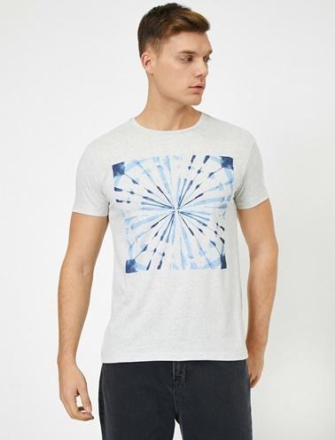 Koton Desenli T-Shirt Gri